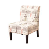 CHAIR SLIPPER PARIS PRINT LINEN