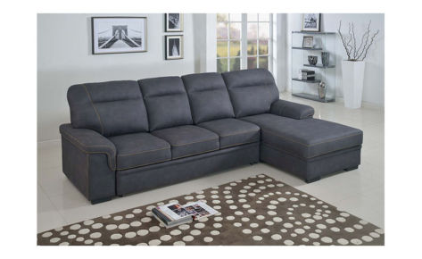 Erika 4 Seater Sofa Bed with Lift up Storage Grey