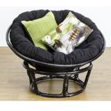 Papasan Chair Rattan Black
