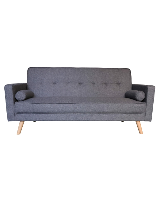 Remarkable Scandi Sofa Bed 3 Seater With Roll Cushions Grey Beutiful Home Inspiration Cosmmahrainfo