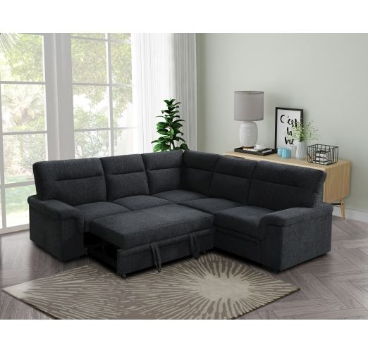 Erika III Corner Sofa with Pull Out Bed Fabric
