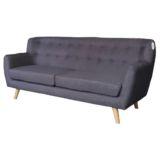 Sofa Scandi Curve 3 Seater Dark Grey