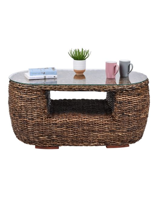 975375 ABACA MOON COFFEE TABLE WITH GLASS (1)