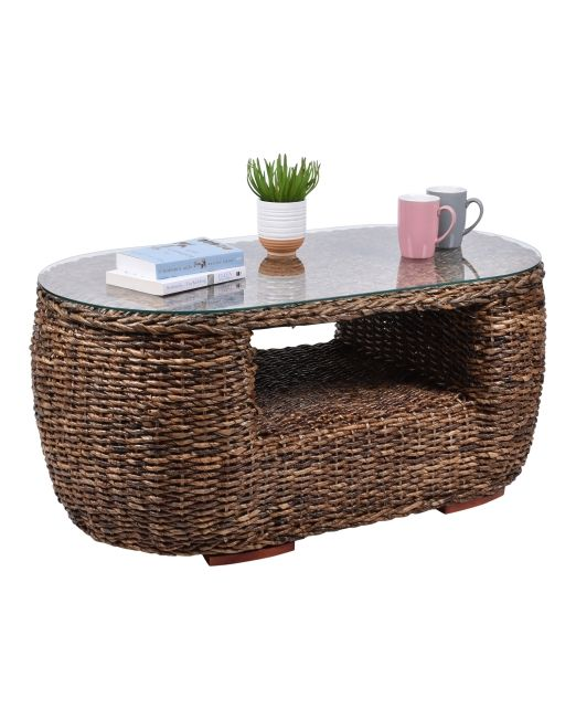 975375 ABACA MOON COFFEE TABLE WITH GLASS (2)