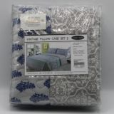 Casa Rosso Vintage Blue Paisley Pillowcase pk2