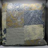 Casa Rosso Vintage Blue Patchwork Cushion 60cm
