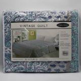 Casa Rosso Vintage Quilt QB Blue Paisley