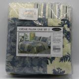 Casa Rosso Vintage Blue Patchwork Pillowcase 2pk