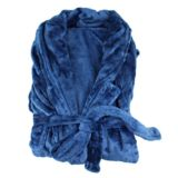Oddysey Living Silk Touch Robe Large/XLarge Navy