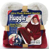 Ultra Plush Hoodie Blanket Jacket Red