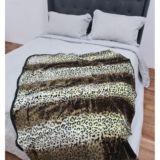 Casa Rosso Faux Mink Throw Leopard Print