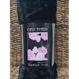 Casa Rosso Faux Mink Throw Black Rose