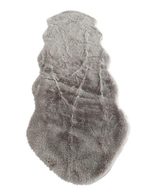 985835 - CR LAPIN PEANUT RUG GREY 60X180CM