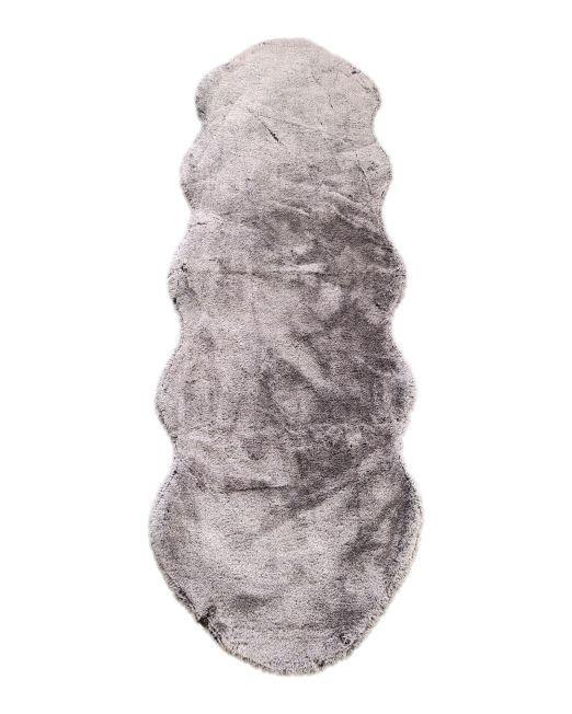 985837 - LAPIN PEANUT RUG 2 TONE BLACK & GREY 60X180CM