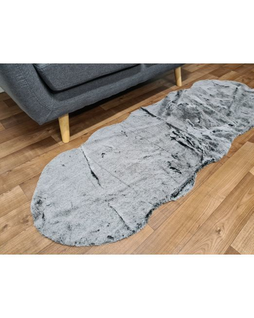 985837 Lapin Peanot Rug 2 Tone Black and White