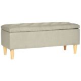 Ottoman with Lift Up Lid Grey