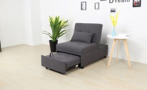 Toby Pull Out Sofa Bed Single Dark Grey