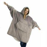 Ultra Plush Hoodie Blanket Jacket Grey