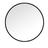Black Circle Mirror 60cm