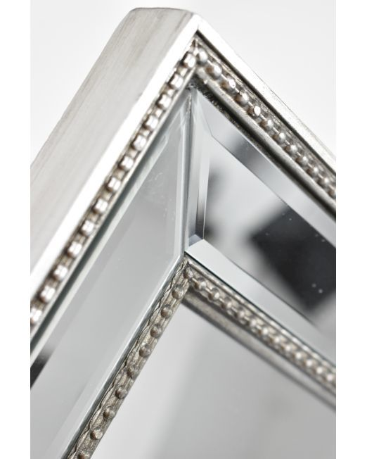 850149 Antique Studded Mirror Silver (1)