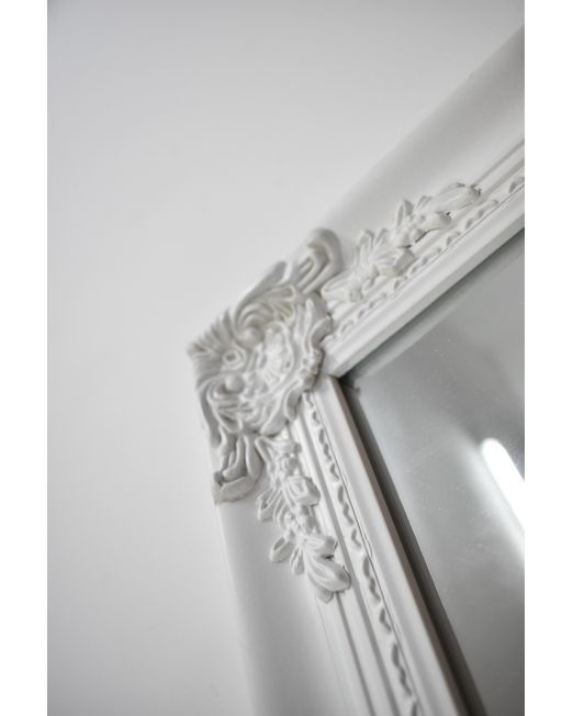 850150 Vintage Antique White Mirror (3)