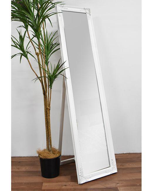 850150 Vintage White Mirror