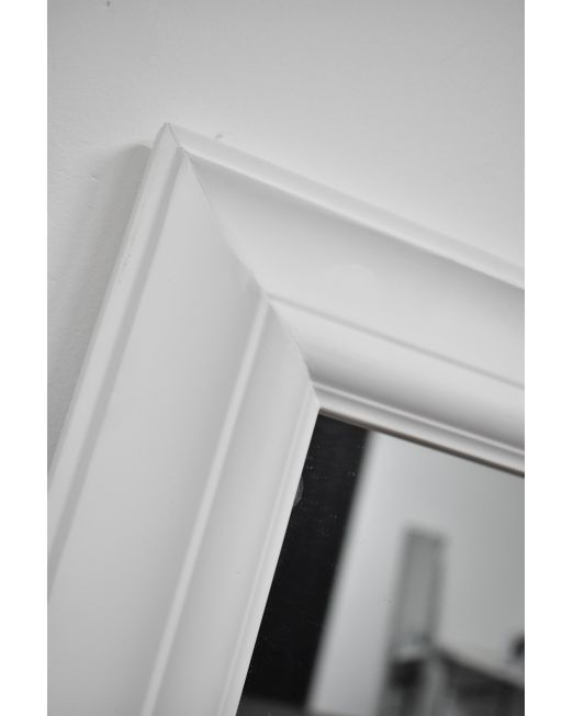 850152 Plain Profile Matte White Mirror (1)