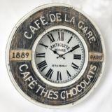 Metal Cafe Paris Wall Clock 60cm