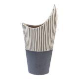Stripe Top Horn Vase 17 x 33cm
