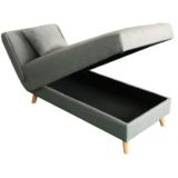 Cleo Lift Up & Pull Back Chaise Grey