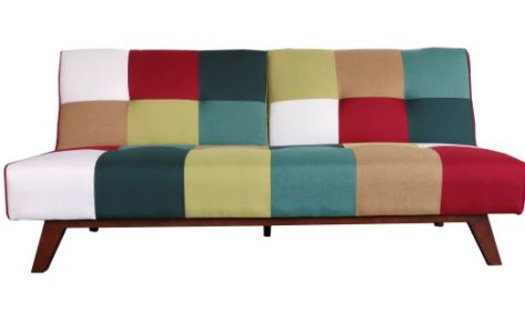 Jasper Patchwork Pull Back Sofa Bed