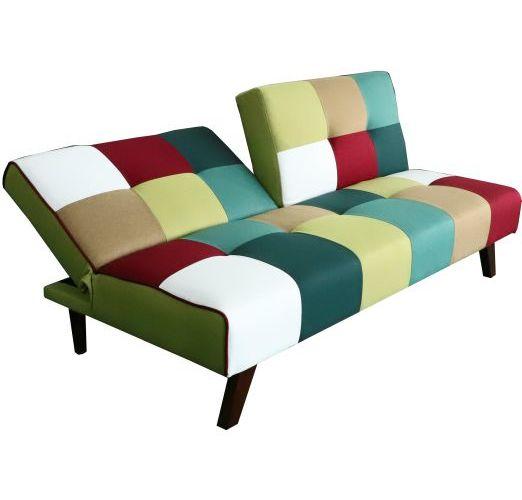Jasper Patchwork Pull Back Sofa Bed