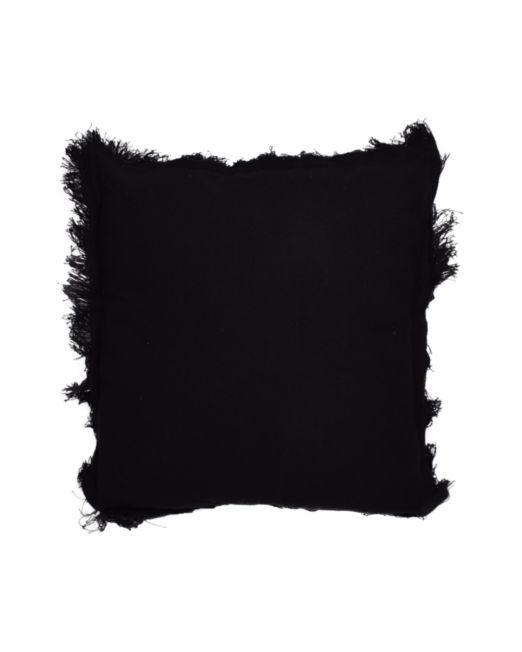 669031 Rio Cushion Plain w Frill Black
