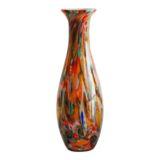 Harlequin Multicolour Bulb Base Glass Vase 42cm