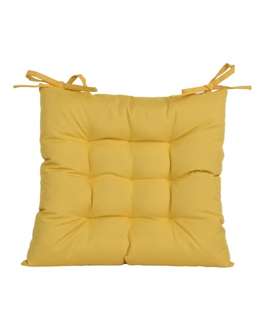 669071 LOLLY OUTCHAIRPAD 9PT YELLOW 43X43CM