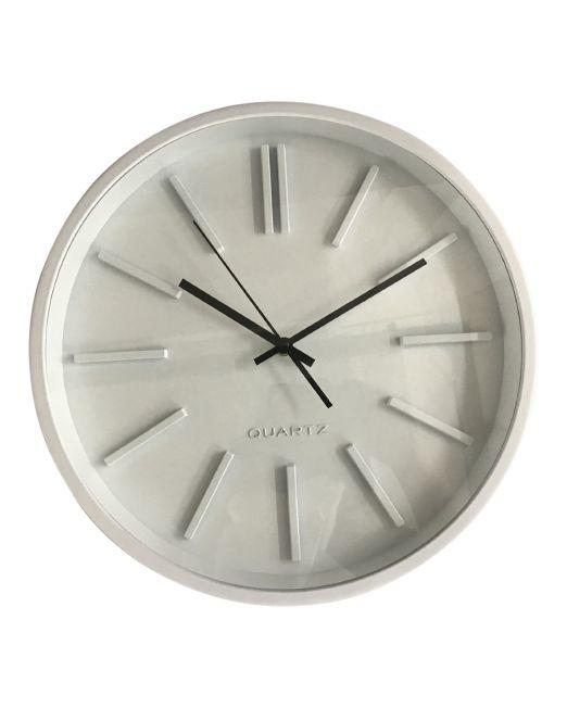 920448 Pepper Clock 35x35x4.8cm White
