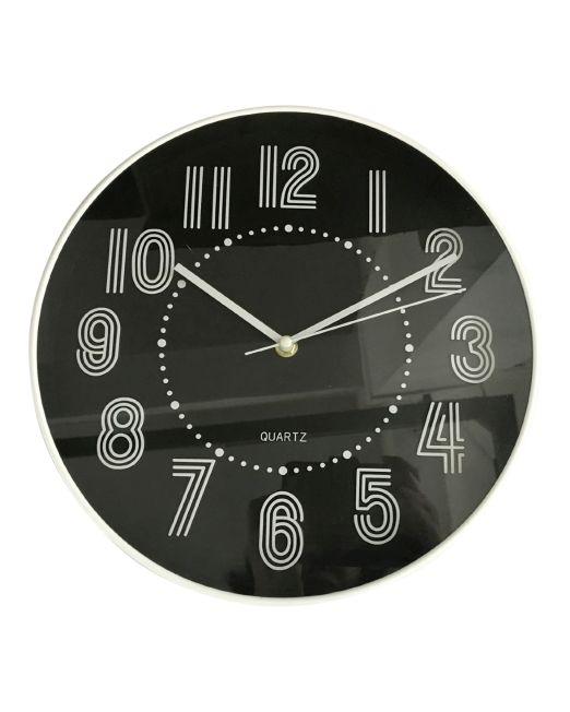 920450 Studio Clock 30x30x4.3cm Black