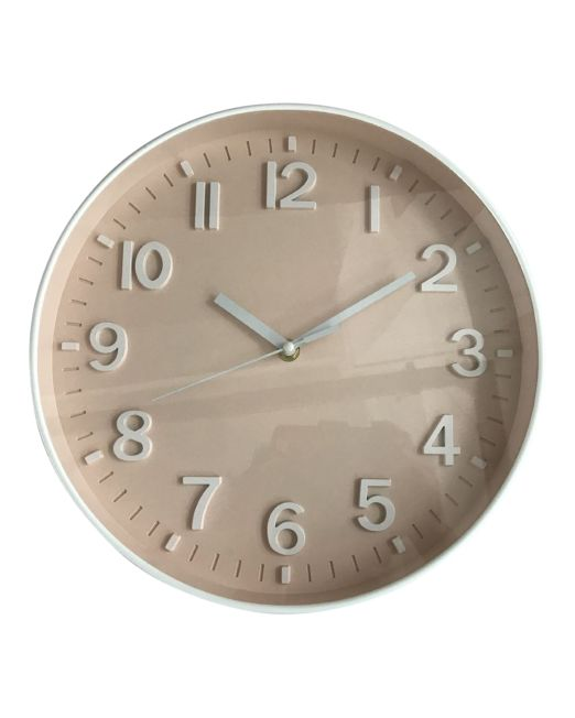 920453 Bayside Clock 30x30x4.3cm Blush