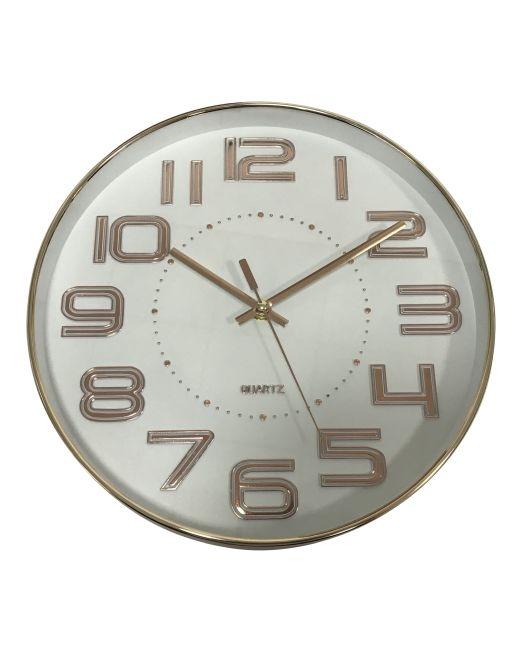 920454 Nordic Clock 30x30x4.3cm Gold