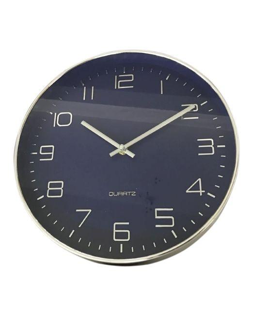 920456 Oscar Clock 30x4.3 Navy Silver