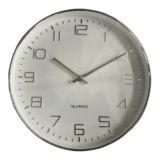 Oscar Clock White/Silver