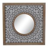 Mirror Square White Mandala