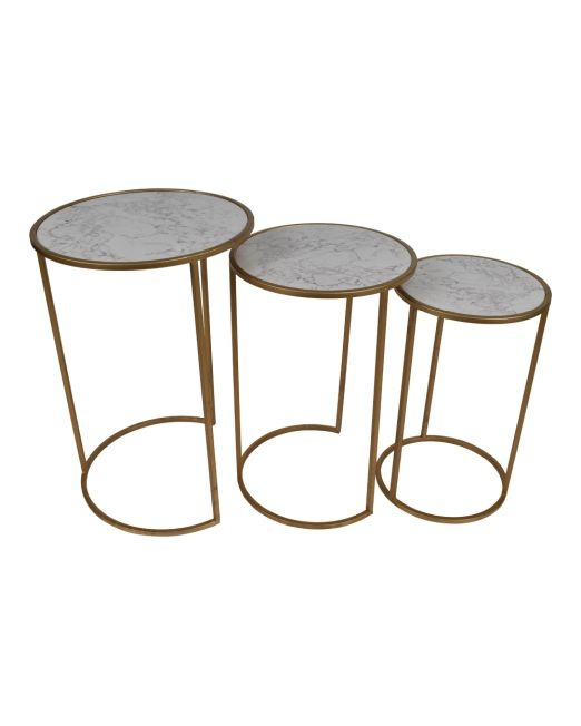 972004 TABLES GOLD&MARBLE LOOK TOP S3 (1)
