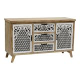 Willow Buffet with Carvings 2 Door 3 Drawer