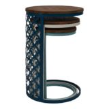 Harbour Table Wood Top Nesting Small