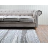 Castello Rug Abstract Grey Blue Velvet