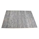 Castello Rug Abstract Grey Blue Block Print Velvet