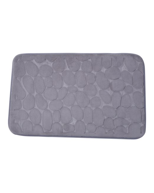 036098 - BATH MAT EMBOSSED STONE GREY (1)