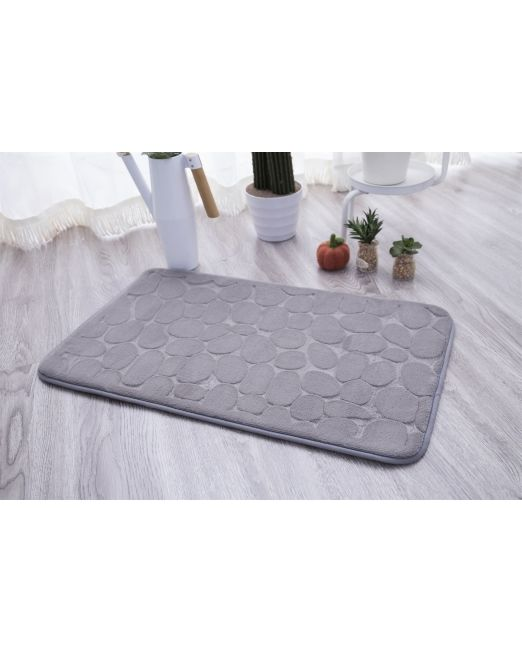 036098 - BATH MAT EMBOSSED STONE GREY (3)