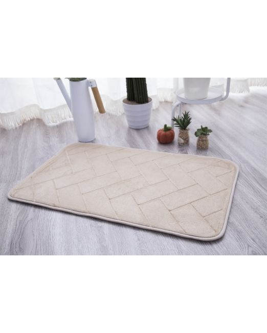 036105 - BATH MAT FOAM BRICKS BEIGE (3)